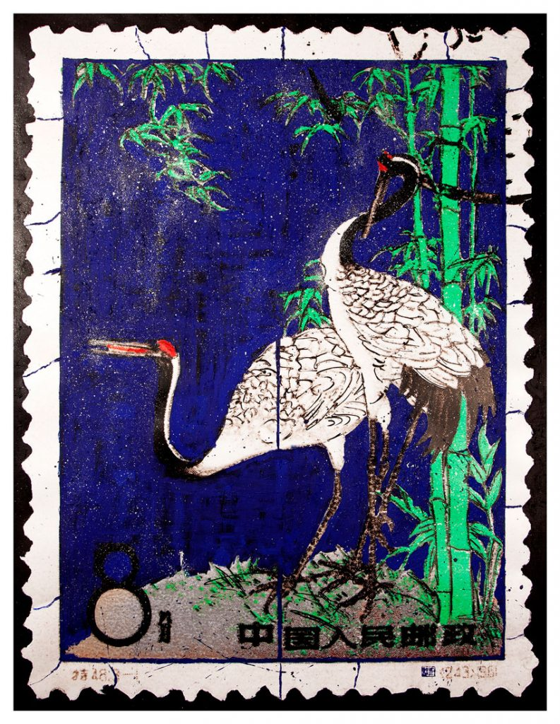 Stamps with cranes piers bourke photographer clementine de forton gallery
