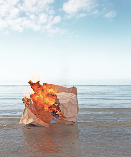 Ephemeral landscape installations Benjamin Deroche - Clementine de Forton Gallery